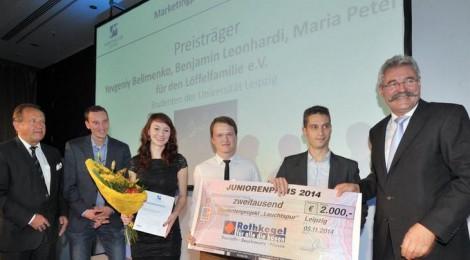 """Junioren-Marketingpreis für die """"Leipziger Leuchtspur"""""""